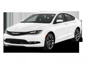 Moderné biele auto s poistením